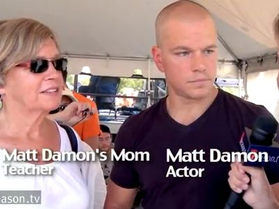 VIDEO Matt Damon Rips A Reporter, Supports Teachers